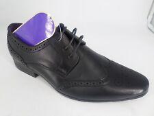 Elong Black brogue Shoes UK 8 EU 42 LN40 27