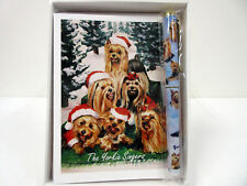 Yorkshire Terrier Singers Holiday Cards & Pen Set 6 Note Cards Envelopes Yorkie