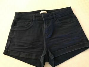 womens shorts, H&M, size 4, navy