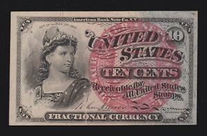 US 10c Fractional Currency 4th Issue FR 1259 Ch CU (-005)