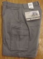 COLUMBIA BROOKSVILLE TWILL CARGO SHORTS NWT MEN'S W30 GRAY FLAT FRONT HIKING