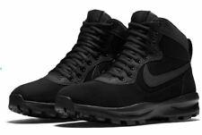 NIB Mens Nike Manoadome Leather Shoes Boots TRIPLE BLACK 844358 003 Hiking Boots