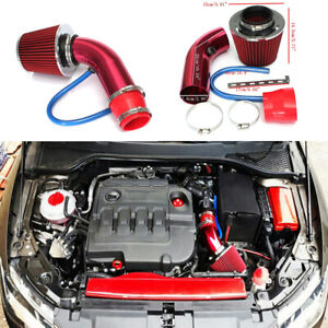 Car Cold Air Intake Filter Pipe Induction Power Flow Hose System Kit Universal