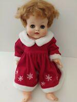 "Vintage Alexander Baby Doll. Kathy. Tummy squeaks. 19"" Red Hair Frey Mfg Co NJ"