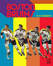 Boston Bruins 1971-72 Year Book Cover, 8x10 Color Photo