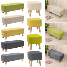 Large Square/Rectangle Fabric Pouffe Seat Footstool Sofa Ottoman Foot Rest Stool