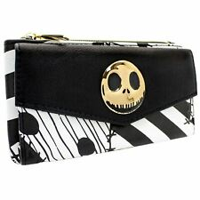 OFFICIAL NIGHTMARE BEFORE CHRISTMAS PATCHWORK BLACK COIN & CARD CLUTCH PURSE