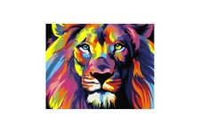 PAINT BY NUMBERS KIT RAINBOW LION