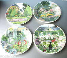 Gien Paris A Giverny Dessert Plate SET/4 Assorted Garden Designs French New