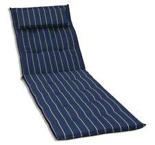 KMH® Sonnenliegen blau Auflage Polster Liegenauflage Sonnenliege Kissen Liege