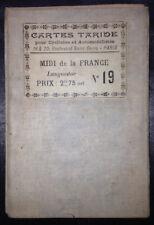 Carte Taride N°19 - Midi de la France - Languedoc - Cartographe : P. Bineteau