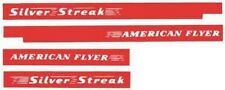 SILVER STREAK DIESEL SELF ADHESIVE STICKER SET for AMERICAN FLYER S Gauge TRAINS