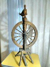 Antique wooden spinning wheel. USSR. 1920-30