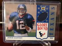 2002 UD Authentics Glory Bound Jerseys Jabar Gaffney #GBJ-JG Rookie