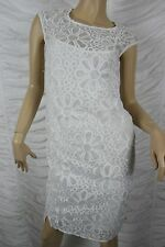 THE ARK white 100% cotton daisy floral embroidery SS15 shift dress size XS BNWT