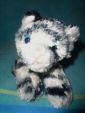 "Tiger Aurora World 6"" Mini stuffed plush Black White Flopsie Silky soft bean bag"