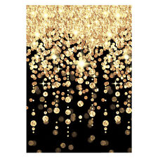 Black & Gold Cascading Lights Party Room Wall Decoration VIP Hollywood New Year