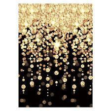 Noir & Doré en Cascade Lumières Fête Mur Chambre Décoration Vip Hollywood Neuf