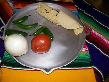 Mexican 100% Aluminum Round Comal with Spout and Ear Handles - Super XLarge