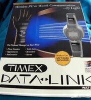 VINTAGE TIMEX MICROSOFT MENS DATA LINK 100 WATCH NEW IN ORIGINAL BOX W/ SOFTWARE