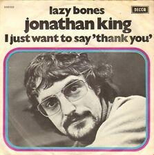 """JONATHAN KING - Lazy Bones (1971 VINYL SINGLE 7"""" DUTCH PS)"""