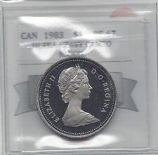 **1983**,Coin Mart Graded Canadian Nickel Dollar **PF-67 UHC**