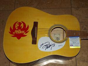 Hank Williams SIGNED ACOUSTIC GUITAR PSA COA AUTOGRAPHED