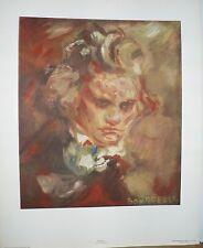 Antoine BOURDELLE, Lithographie JACOMET, Portrait BEETHOVEN