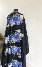Comfort Stretch Cotton Sateen Summer Cornflower Bouquet Flora Dress Fabric