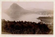 Suisse, Salvatore veduto dal Monte Bré Vintage print.  Tirage argentique  10