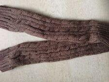Ladies Women Long Fingerless Knitted Gloves Winter Arm Wrist Warmer Knit Mitten