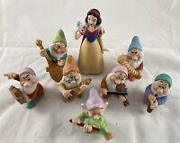 Snow White Seven Dwarfs Porcelain Figurines Playing Instruments Sri Lanka Disney