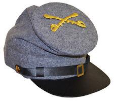 GUERRA CIVILE AMERICANA CONFEDERATE CAVALRY Foraggio Cap con badge XLarge 60/61cms