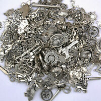 Lot Tibetan Silver Metal Charms Pendant Bracelet Wholesale Jewelry Making
