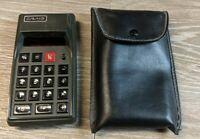 Rare Vintage Retro Craig 4507 Red LED Calculator W/Case