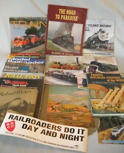 Lot Train Books /Pictures ~Lionel Trains / Stations / Railroad Workers 1941 1st