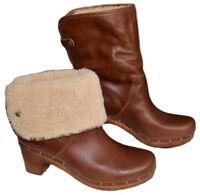 UGG Australia Lynnea Boots Stiefel Clogs braun chestnut Gr 42 UK 9,5 LP 350 €