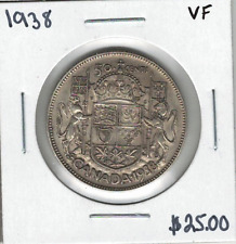Canada 1938 50 Cents VF Lot#4