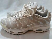 Nike Air Max Plus TN Tuned Triple White Cool Grey Size Men's 8.5 604133-139 Shoe