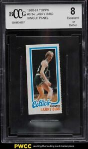 1980 Topps Basketball Single Panel Larry Bird ROOKIE RC BCCG 8