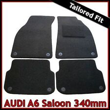 Audi A6 Saloon C6 2004-2011 340mm Tailored Carpet Car Mats BLACK