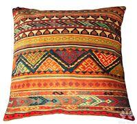 Kilim Cushion Cover Luxury Colorful Print Velvet Pillow Case Sofa Lounge