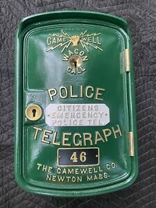 Antique Gamewell  Wagon Call Police Call Box  Restored From Indianapolis, In.