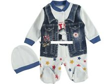 NEU ♥ Strampler Overall Baby Schlafanzug 2 Teiler-Set Gr. 50, 56, 62