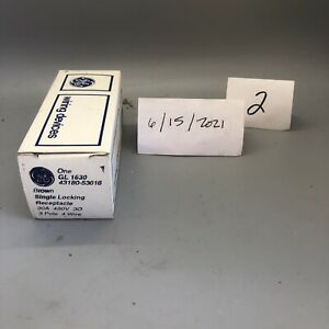 GE Locking Receptacle GL 1630 30A 480V 3P 4W Brown