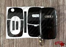 Black Carbon Fiber GL Key Wrap Cover Overlay Audi Remote A1 A2 A3 A4 A5 A6 A8 TT