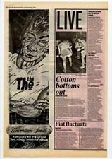 The The Uncertain Smile Advert NME Cutting 1983
