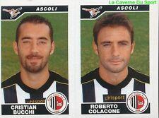 506 BUCCHI COLACONE ITALIA ASCOLI CALCIO STICKER CALCIATORI 2005 PANINI