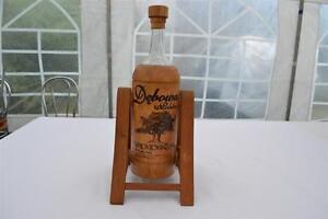 1 Litre Glass Bottle Debowa Polish Vodka In Decorative Oak Cover And Stand