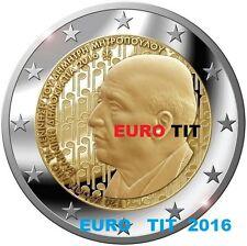 2 €  GRECE  2016   1  X  PIECE  COMMEMORATIVE   MITROPOULOS  2016     disponible